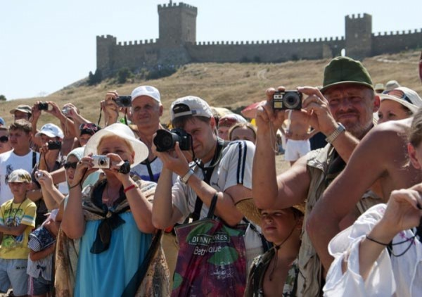 Украинские туристы в Крыму о…