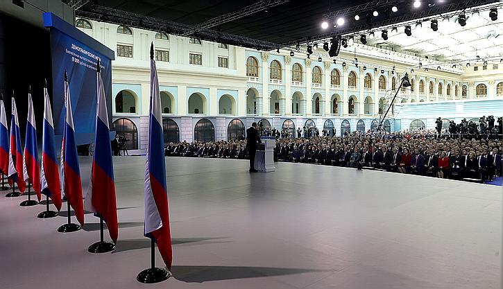 Путин о внешней политике: Главное — Белоруссия, в самом конце ЕС и США, об Украине – ни слова