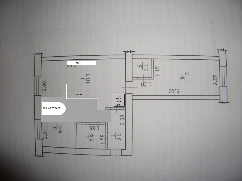 Дизайн двухкомнатной хрущевки трамвайчиком