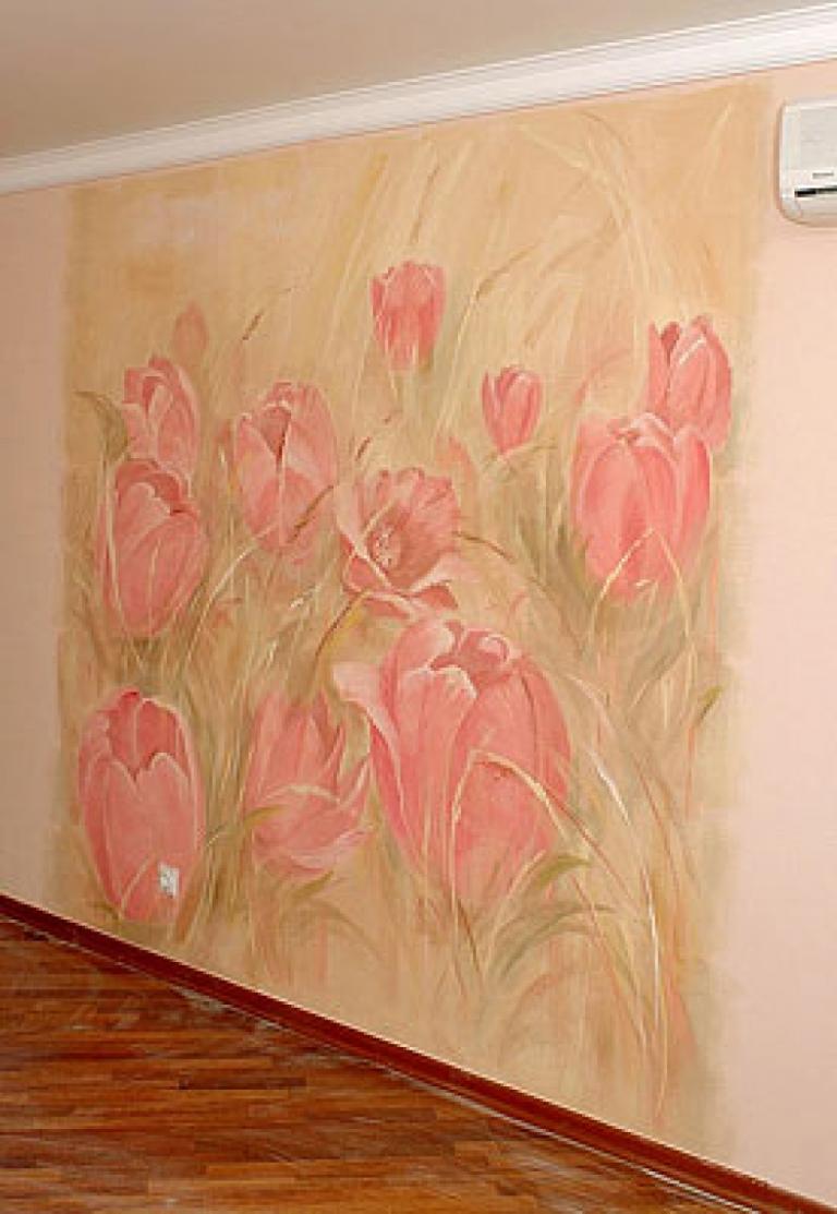 Создаем красивые и простые рисунки на стенах в квартире