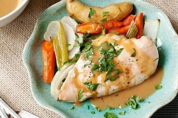 Вкуснейшая куриная грудка с овощами