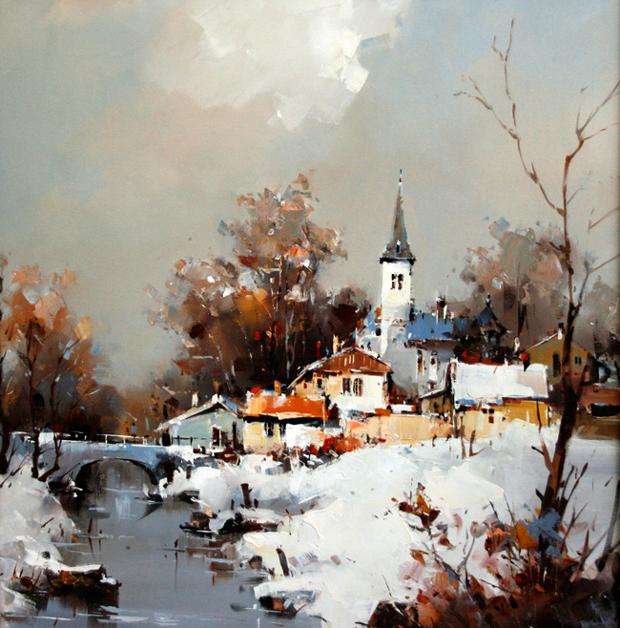«Старый город. Странный город…» Румынский художник Corneliu Dragan-Targoviste