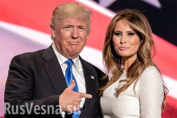 Как американцы раскритиковали Трампа за ошибку в написании имени супруги (ФОТО)