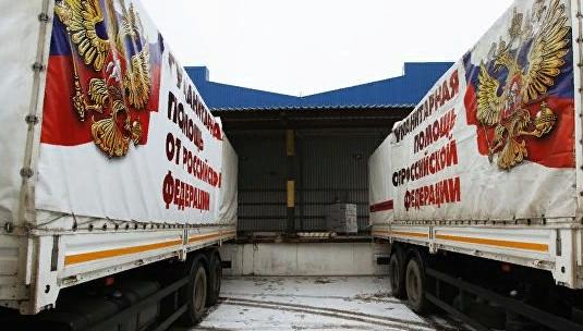 В Кремле объяснили приостановку поставок гуманитарной помощи в Донбасс