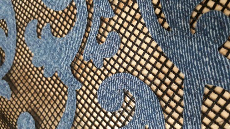 Посоветуйте фасон под ткань - крупная сетка