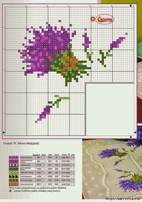 Схемы вышивки ЛАВАНДЫ (1) (491x699, 223Kb)
