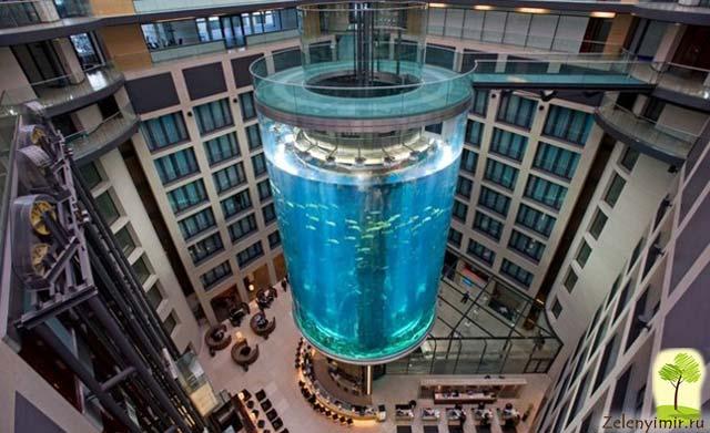 """Самый огромный аквариум в мире - """"Аквадом"""" в Берлине, Германия - 2"""