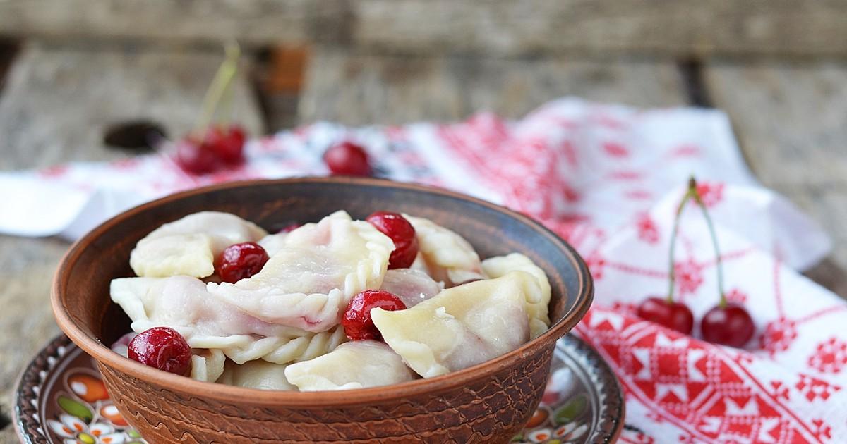 Вкуснейшие вареники с вишнёвой начинкой