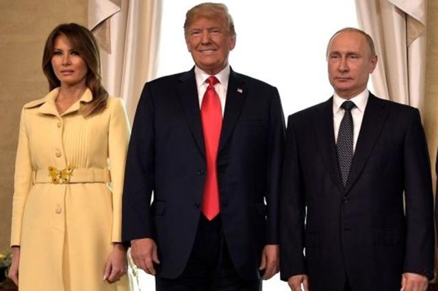"""В сети гадают, почему Мелания Трамп """"испугалась"""" Владимира Путина"""