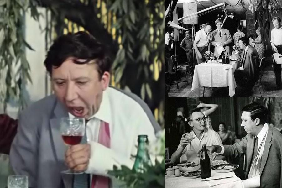 """На съёмках комедии """"Бриллиантовая рука"""""""