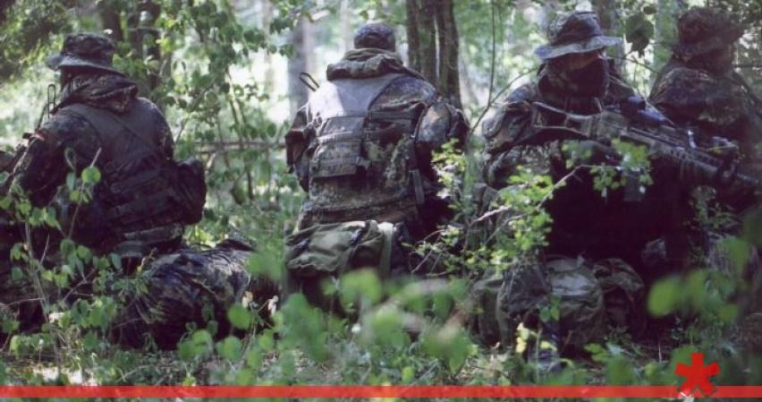 В Донбассе у линии фронта об…