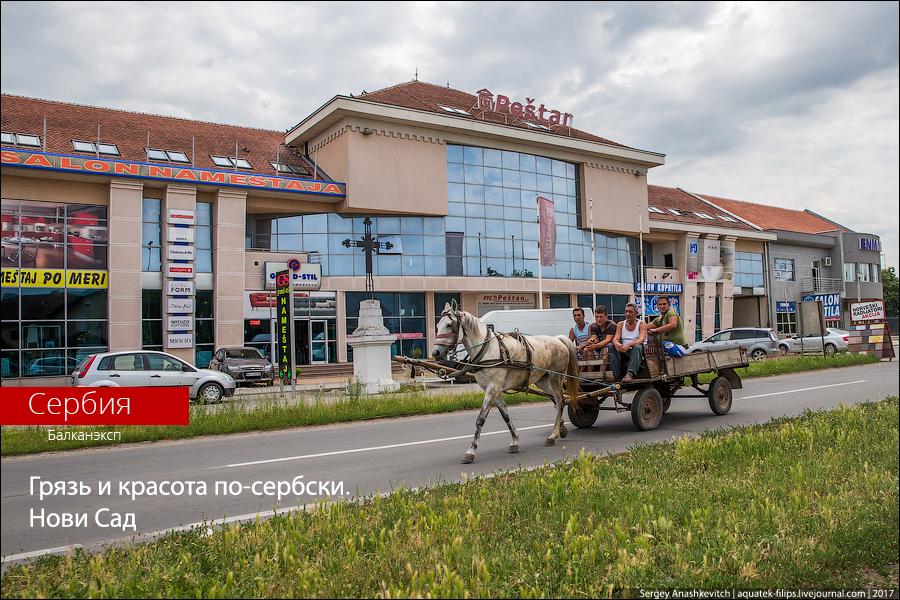 Грязь и красота по-сербски. Город Нови Сад