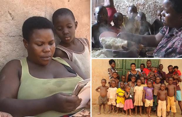У 40-летней женщины из Уганды 38 детей