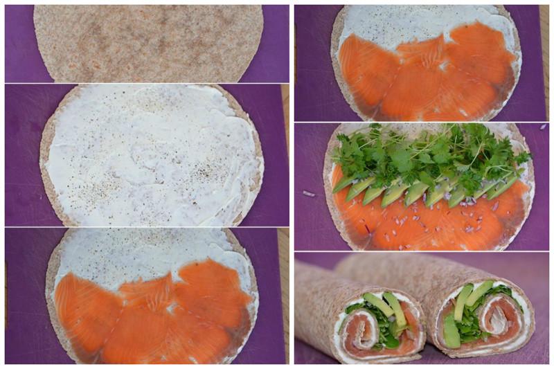 Вот рулет с красной рыбой, мягким сыром и зеленью Закуски, красота, полезно
