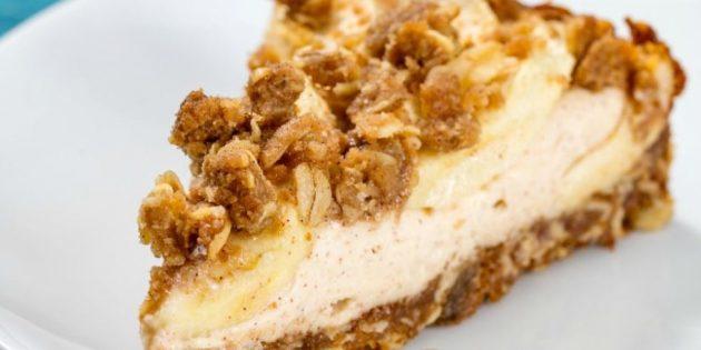 Рецепты чизкейка: Яблочный чизкейк