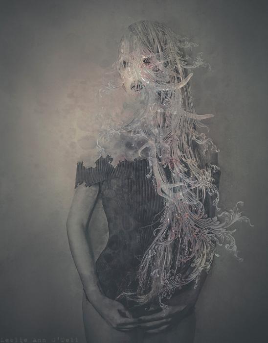 Портрет девушки. Автор работ: фото-иллюстратор Лесли Энн О'Делл (Leslie Ann O'Dell).