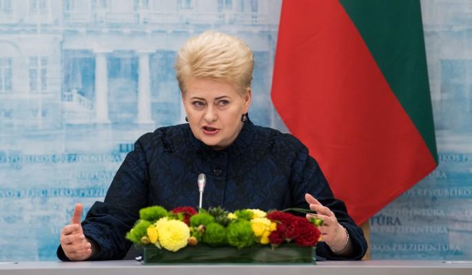 Президент Литвы погрелась в …