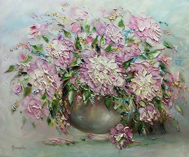 Joanna Domagalska. Цветные,летние букеты,