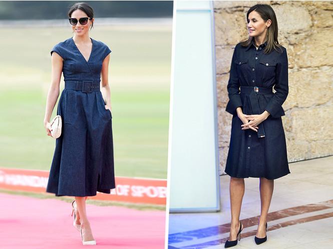 10 джинсовых платьев в стиле герцогини Сассекской и королевы Летиции