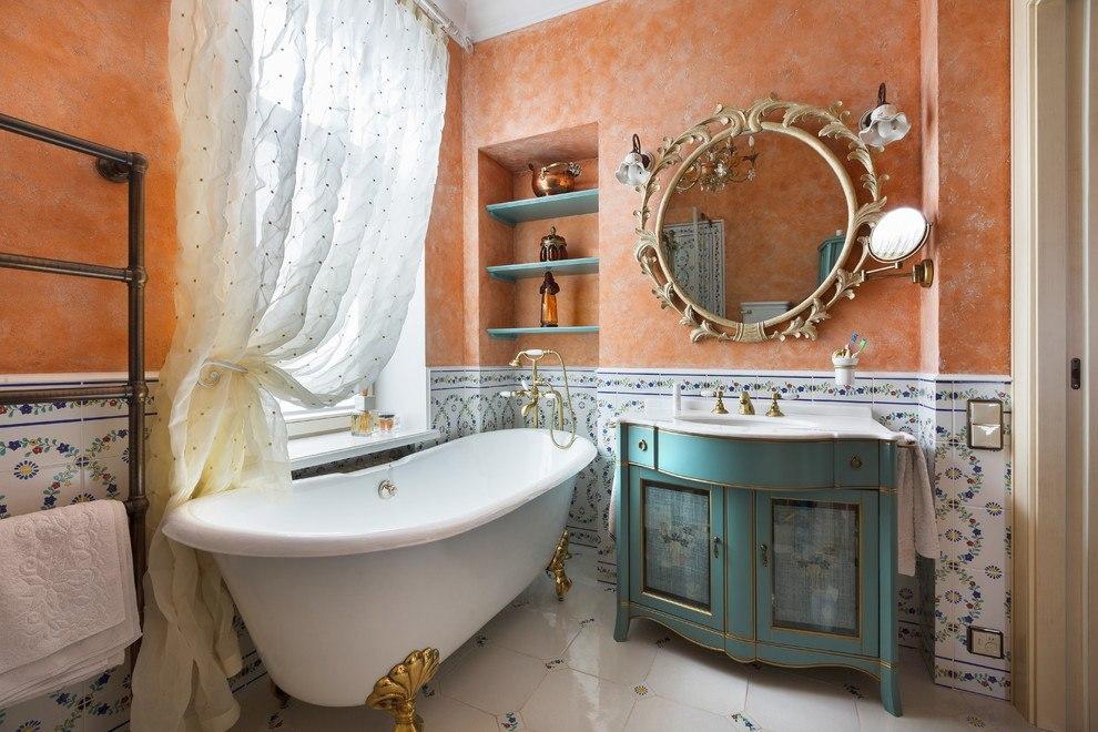 Полки в ванной: фото модных тенденций практичного оформления интерьера