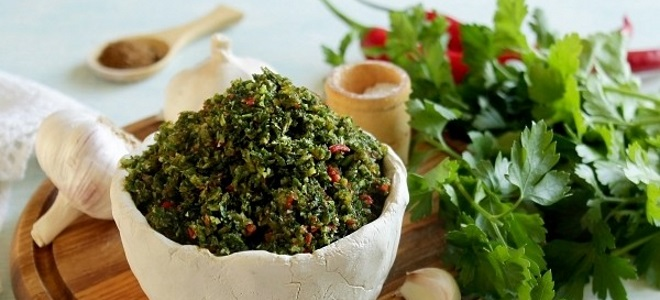 Соус из базилика и петрушки - рецепт