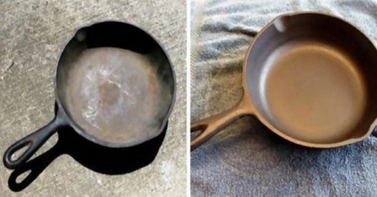 Как очистить старую сковороду: проверенный метод
