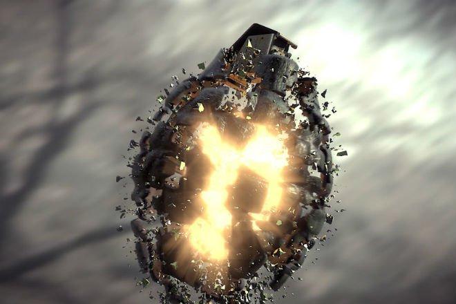 Что будет если взорвать обычную гранату в космосе (3 фото)