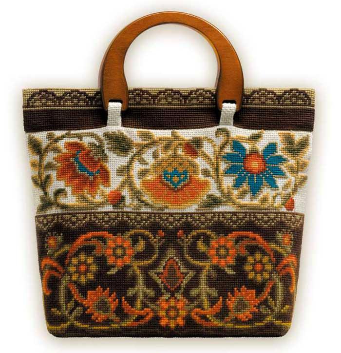 Вышивка крестом на сумках