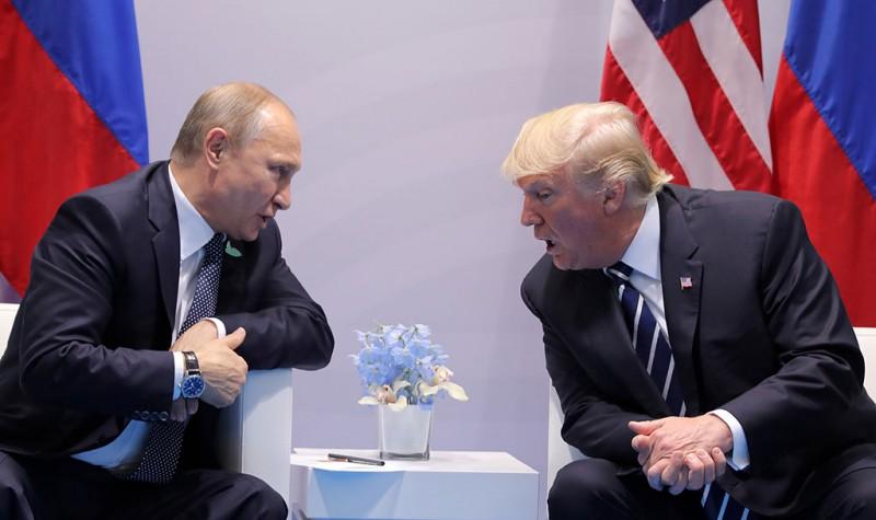 Владимир Путин и Трамп поговорили о сотрудничестве спецслужб