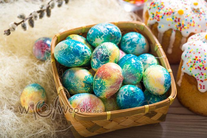 простые яйца на пасху