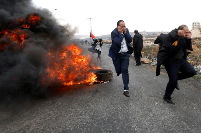 Массовые протесты палестинцев после решения США по Иерусалиму