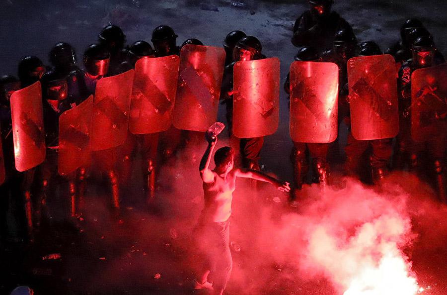 В Румынии начался Майдан (фото).