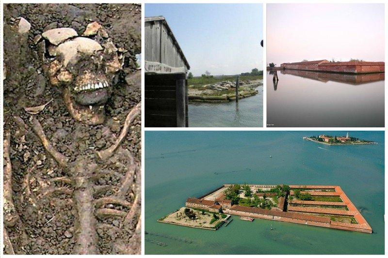 Венецианский остров Лазаретто, или Лазаретто Веккьо или Лазаретто Нуово, необитаем, потому что служил когда-то карантином от чумы и других страшных болезней Средневековья жизнь, земля, интересное, необитаемые острова, факты