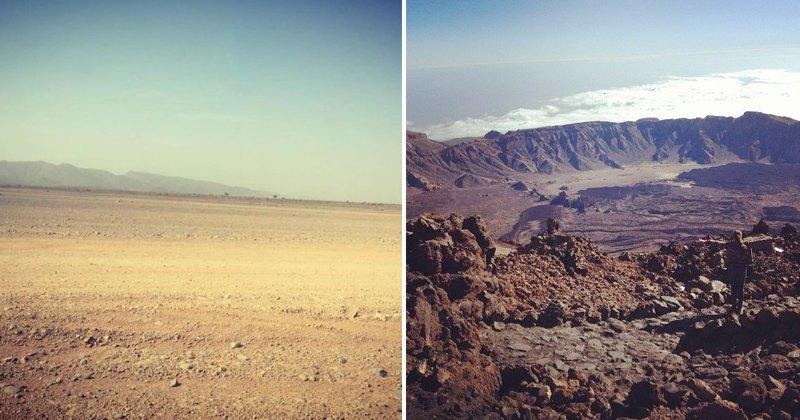 20 земных пейзажей, очень смахивающих на марсианские