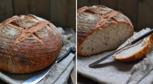 Хлеб ситный на закваске.
