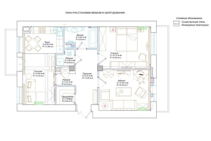 Дизайн трёхкомнатной квартир…
