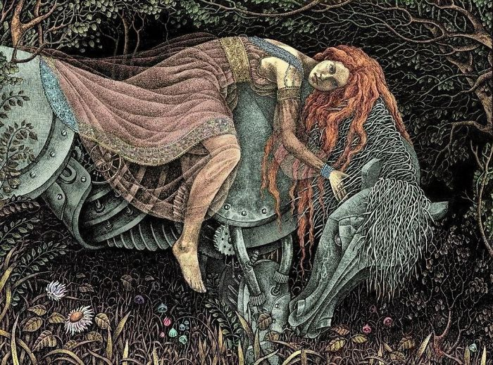 Сказочные иллюстрации Магдалены Корженевска иллюстрация, ручка