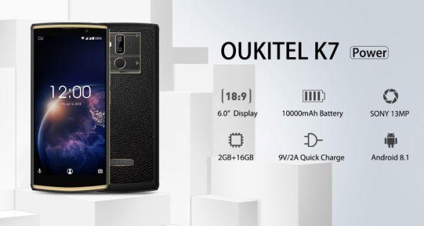 Смартфон OUKITEL K7 Power хвастается гигантской батареей