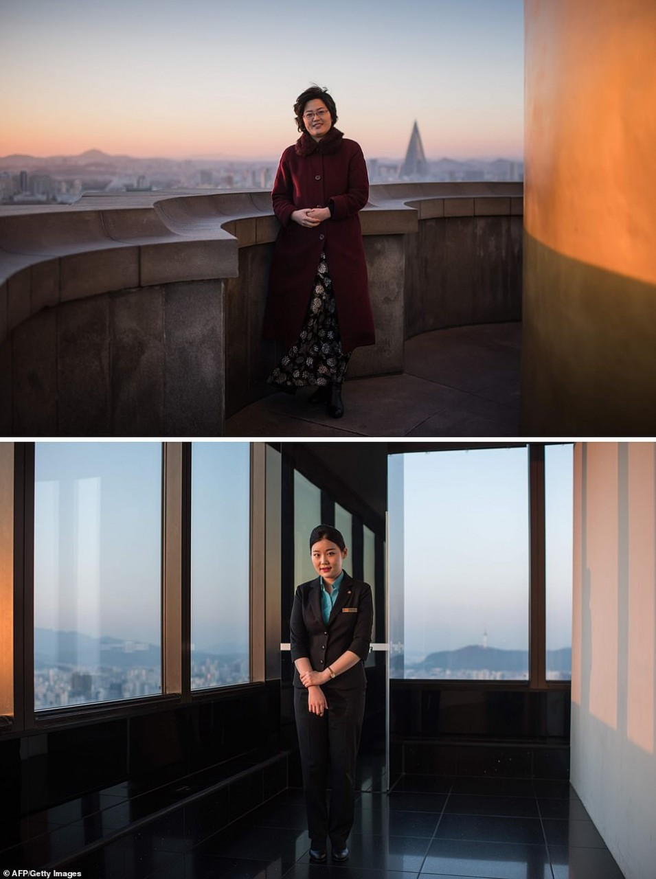 Сравнения Северной и Южной Кореи в фотографиях