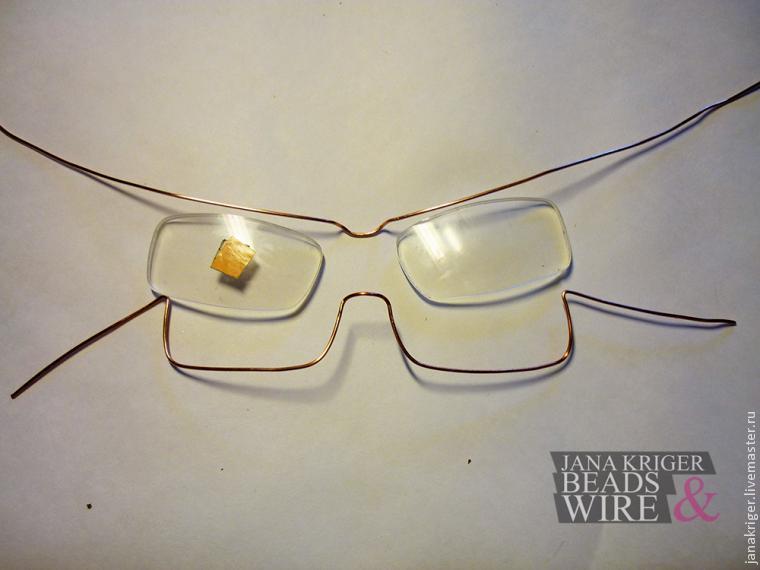 Создаем оправу для очков в технике wire work