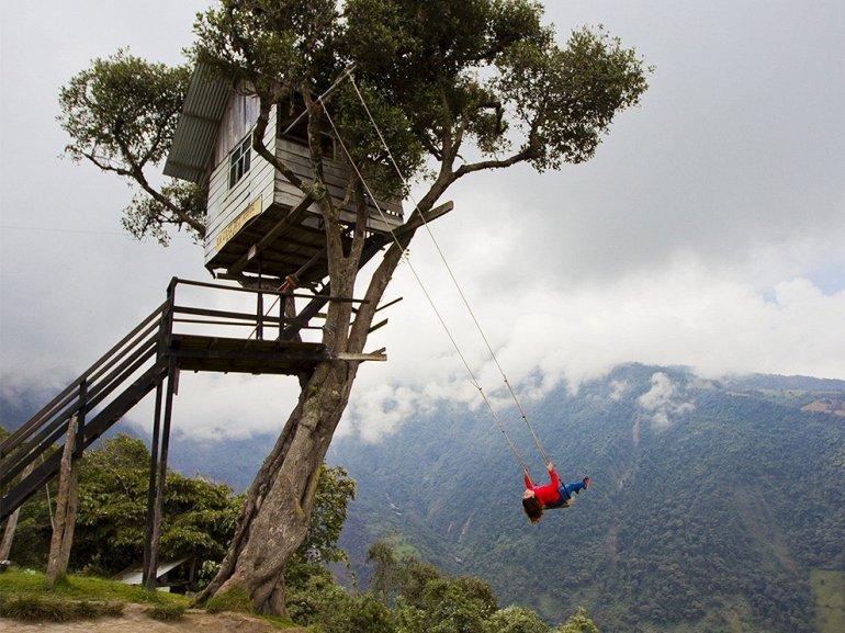 МЕСТА ДАЛЁКИЕ И БЛИЗКИЕ. Качели Каса дель Арбол в Эквадоре