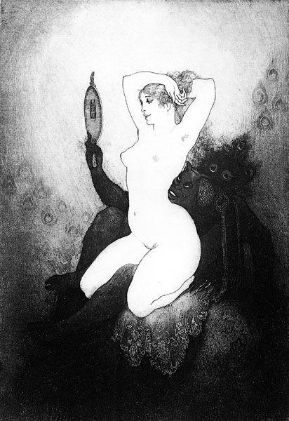 Прелестные нимфы, козлоногие обольстители и демоны в картинах Нормана Линдсея 34