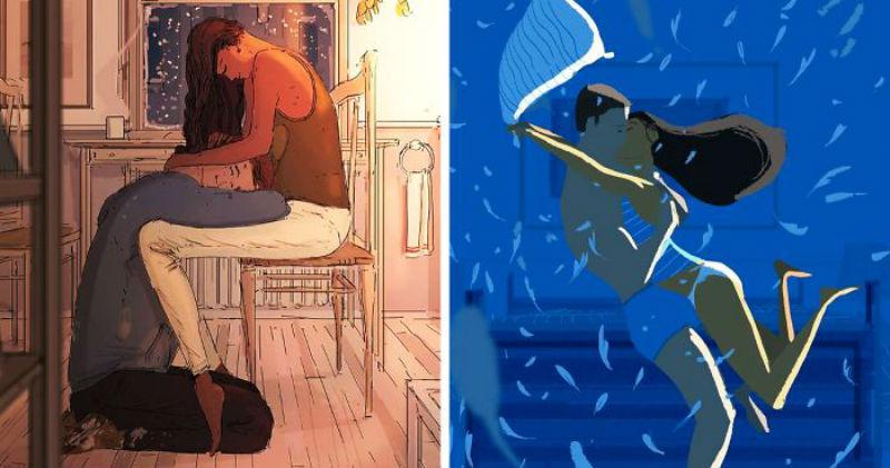 Ламповые иллюстрации художника о маленьких прелестях супружеской жизни