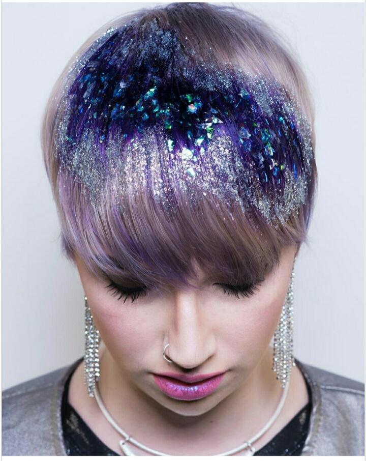 Аметист на волосах (DIY)