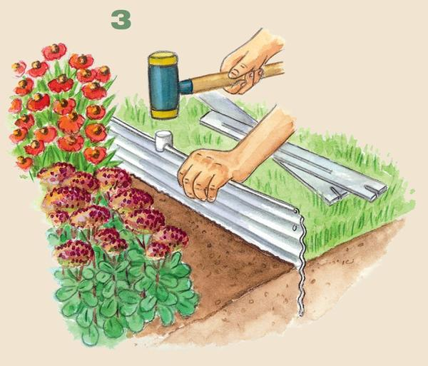 3. Вбейте каждый профиль резиновым молотком.