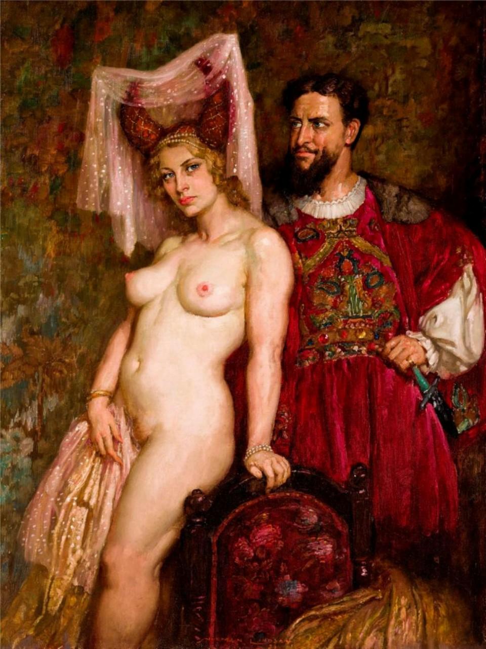 Прелестные нимфы, козлоногие обольстители и демоны в картинах Нормана Линдсея 72