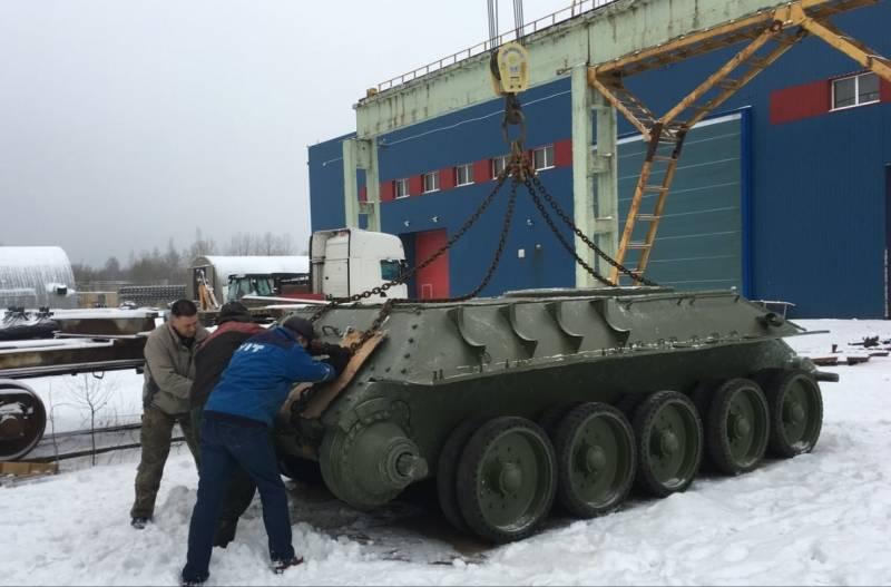 Восстановленный Т-34 займет место в эстонском музее