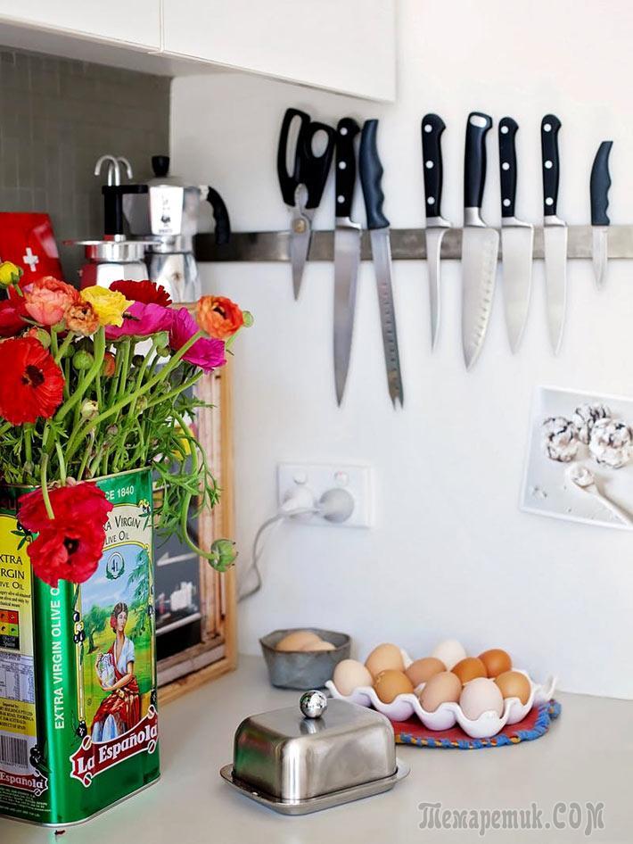 Идеи безопасного хранения ножей на кухне