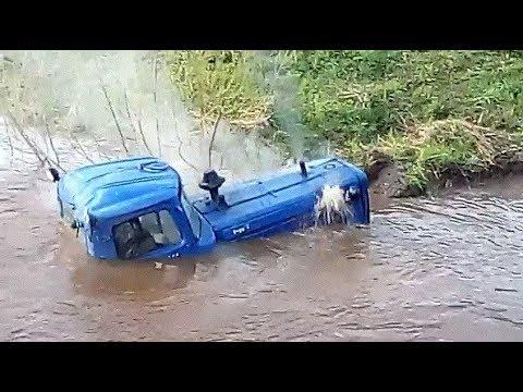 Сумасшедшие Безбашенные ТРАКТОРИСТЫ  Безбашенный ТРАКТОРИСТ Утопил Трактор