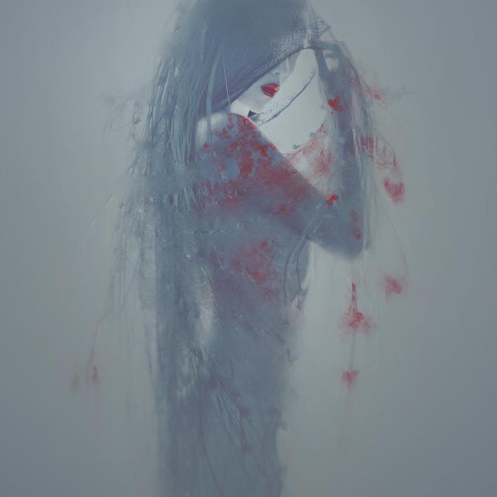 Девушка с цветами. Автор работ: фото-иллюстратор Лесли Энн О'Делл (Leslie Ann O'Dell).